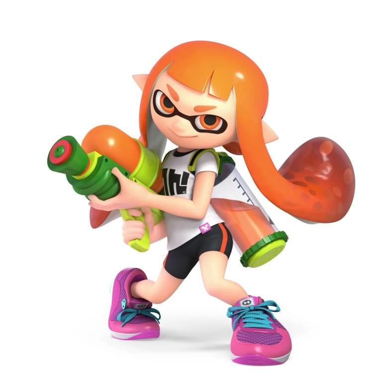 Inkling Girl Super Smash Bros. Ultimate Character Render