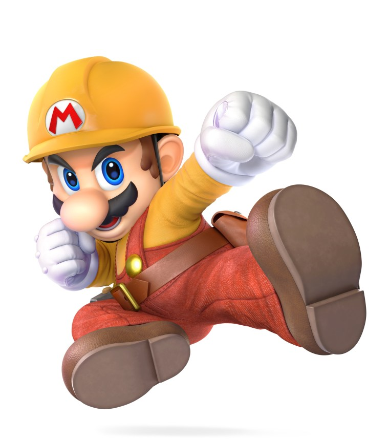 Mario Builder Outfit Super Smash Bros. Ultimate Character Render