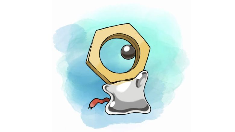 Meltan Pokémon Let's Go Pikachu Eevee Artwork