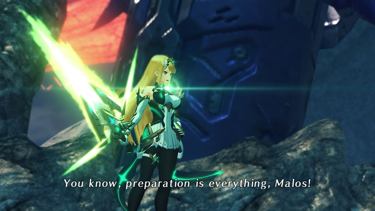 Massive Melee Mythra Aux Core Xenoblade Chronicles 2 Screenshot