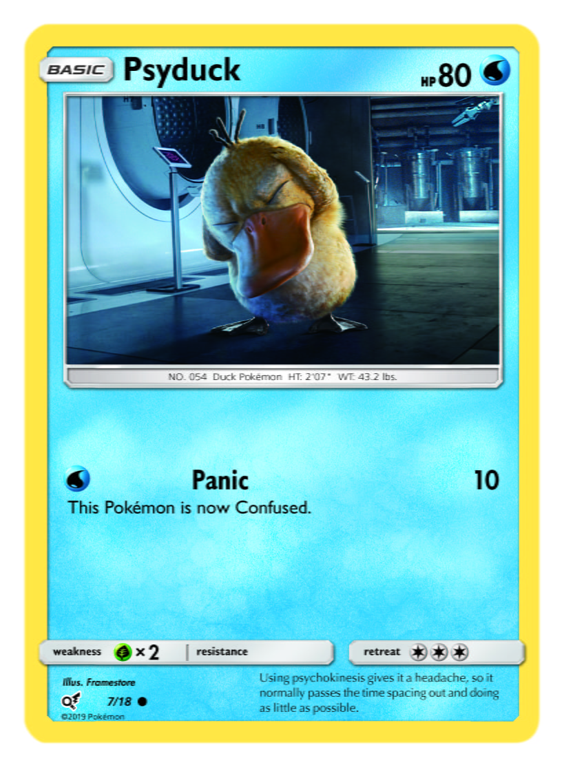 Psyduck Card Pokémon TCG Detective Pikachu