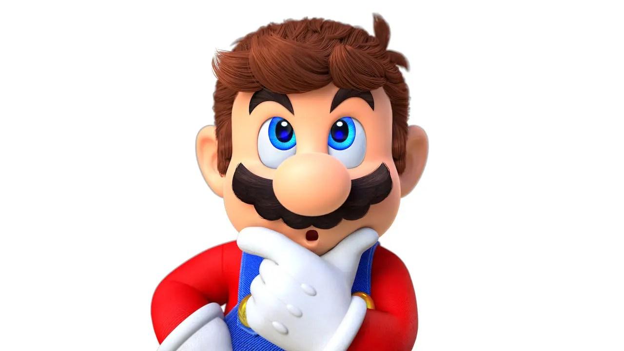 Surprised Super Mario Odyssey Key Art