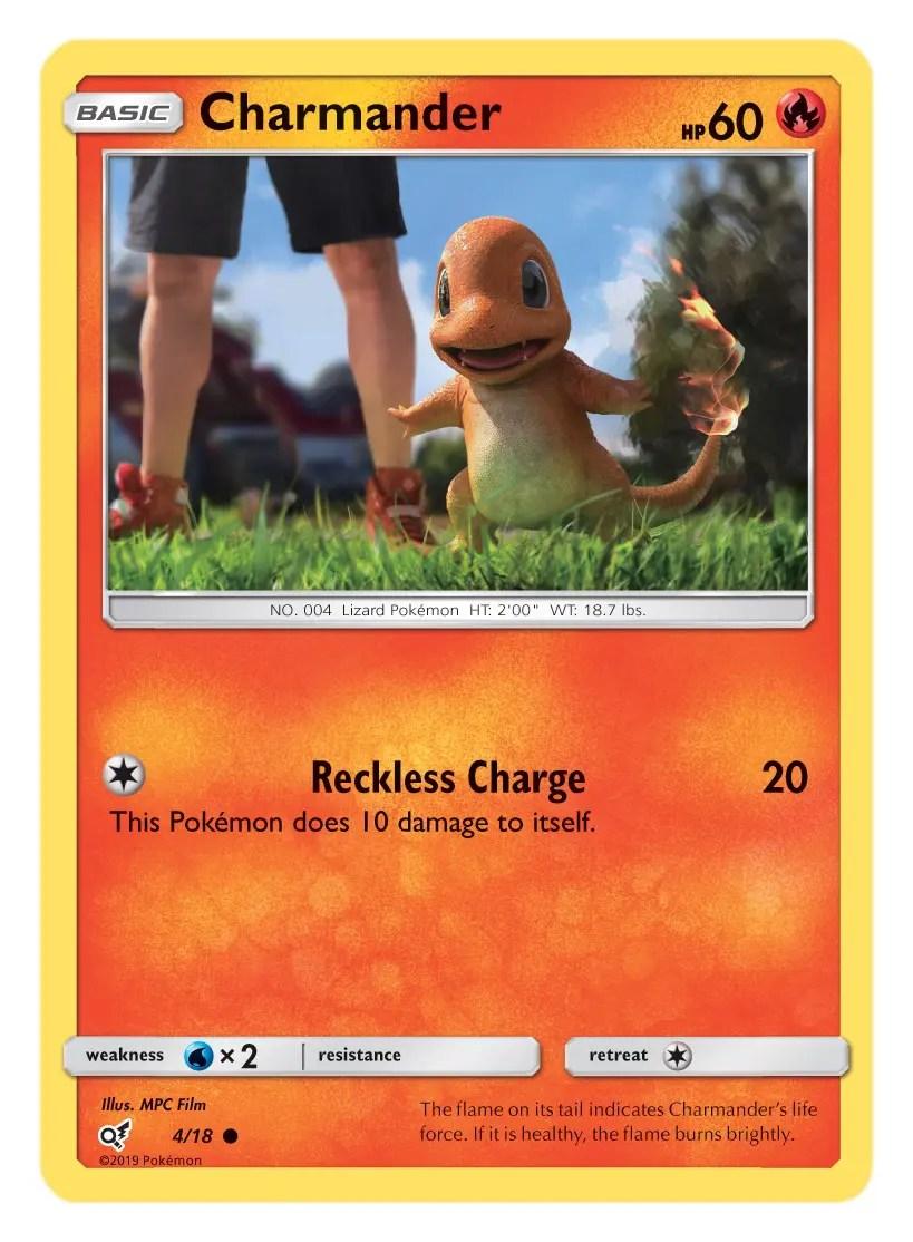 Charmander Card Pokémon TCG Detective Pikachu Collection