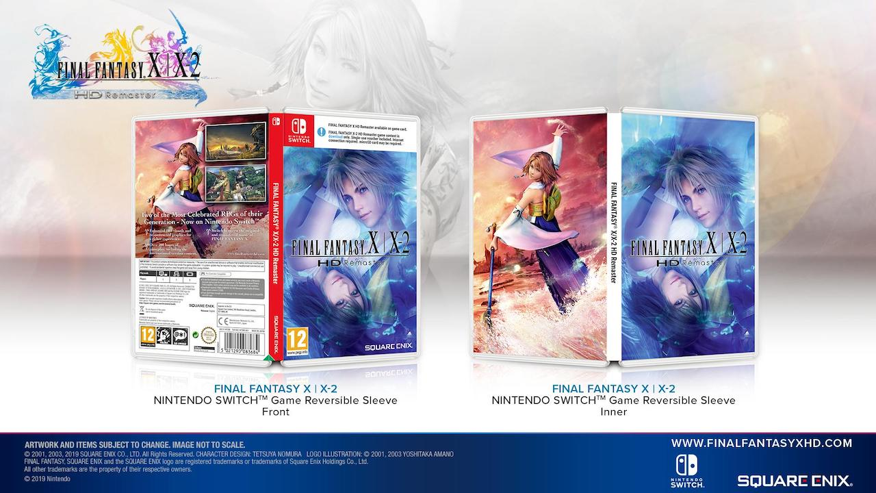 Final Fantasy X/X-2 HD Remaster Switch Reversible Cover