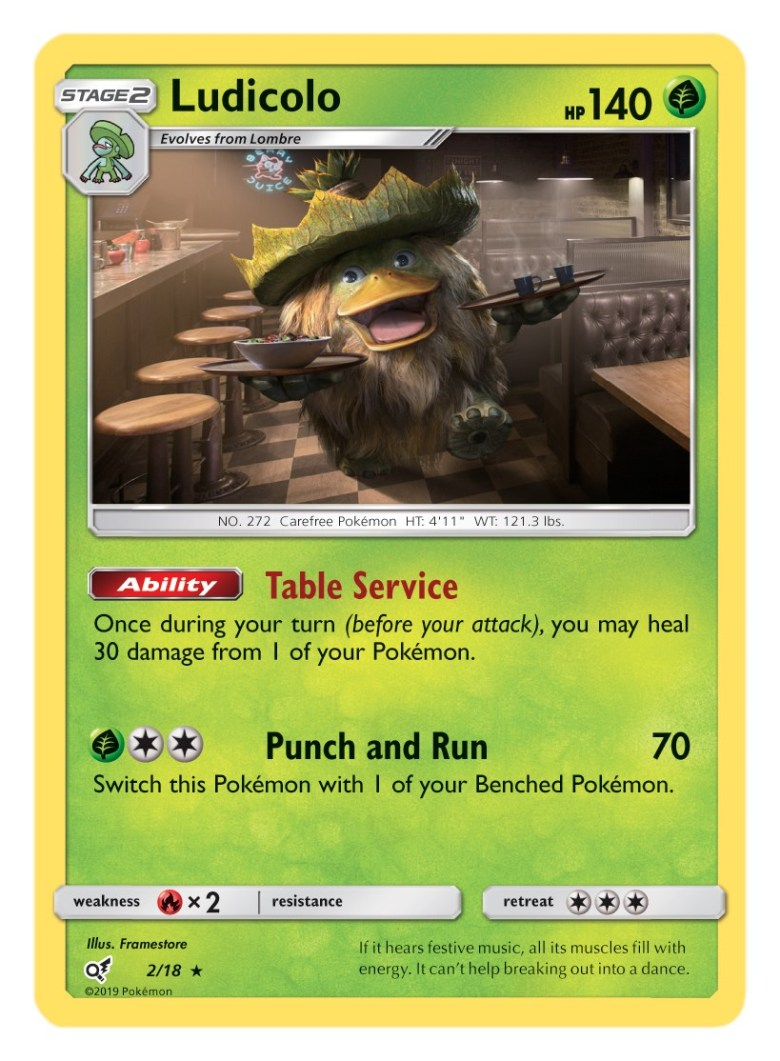 Ludicolo Card Pokémon TCG Detective Pikachu Collection