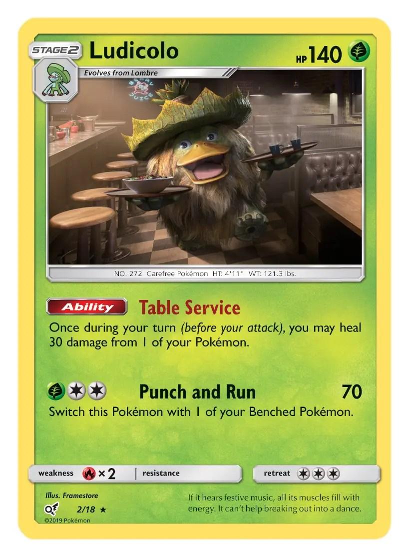 Ludicolo Card Pokémon TCG Detective Pikachu Collection