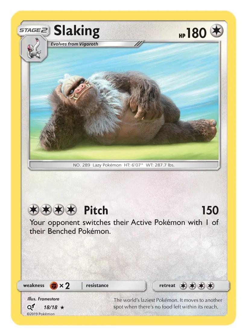 Slaking Card Pokémon TCG Detective Pikachu Collection