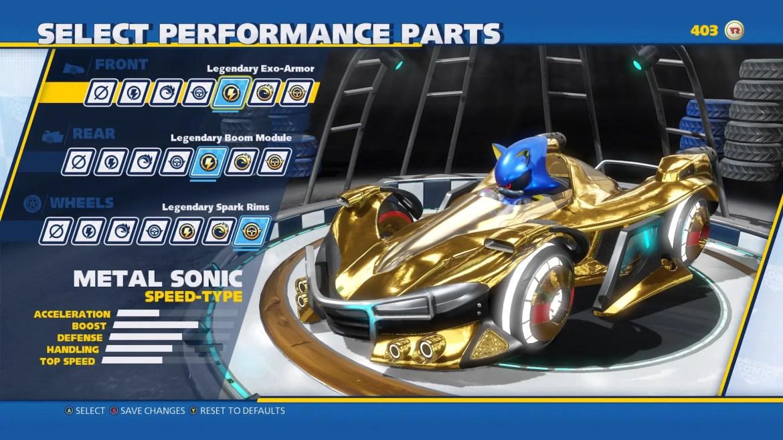 Team Sonic Racing Customization Screenshot 4