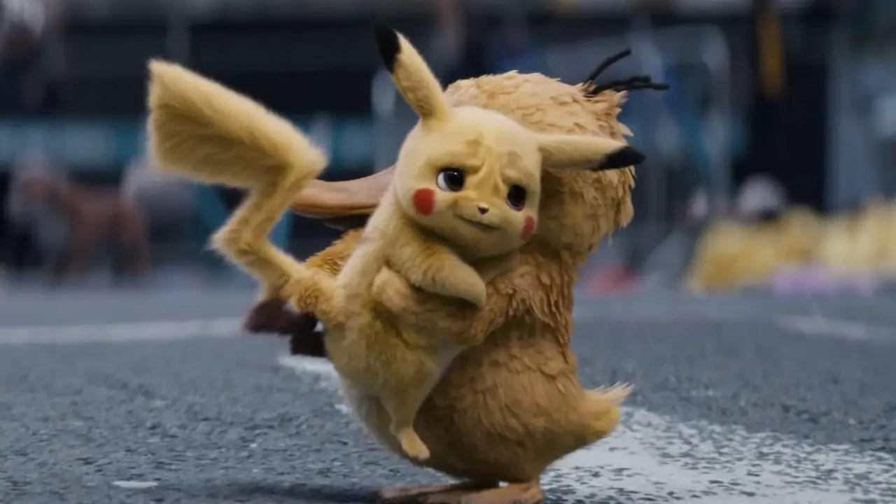 psyduck hugs pikachu in new pok u00e9mon  detective pikachu