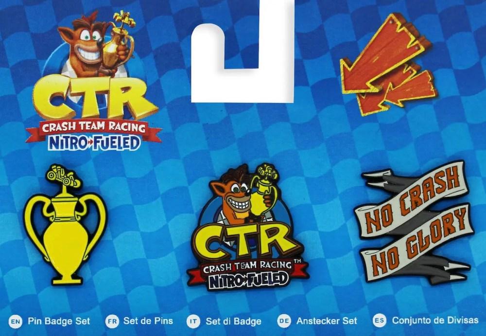 Crash Team Racing Nitro-Fueled Pin Badge Set