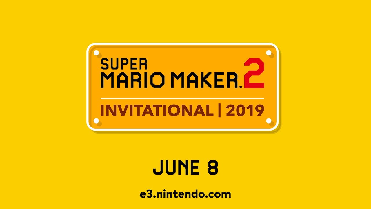 Super Mario Maker 2 Invitational 2019 Logo