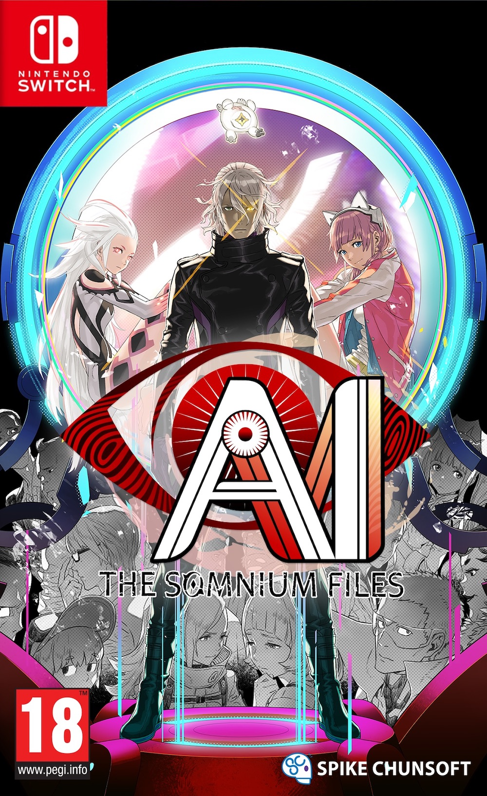 AI: The Somnium Files Switch Box Art