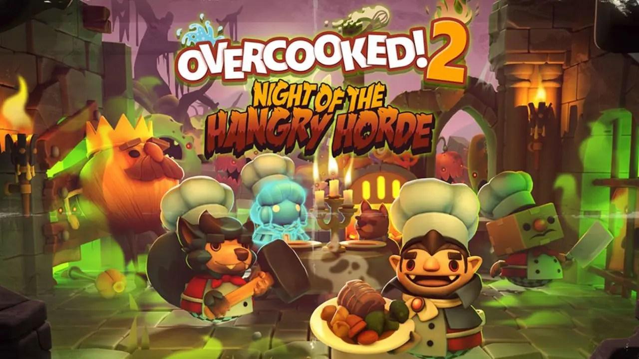 Overcooked! 2: Night of the Hangry Horde Key Art