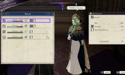 Fire Emblem: Three Houses Faculty Training Screenshot