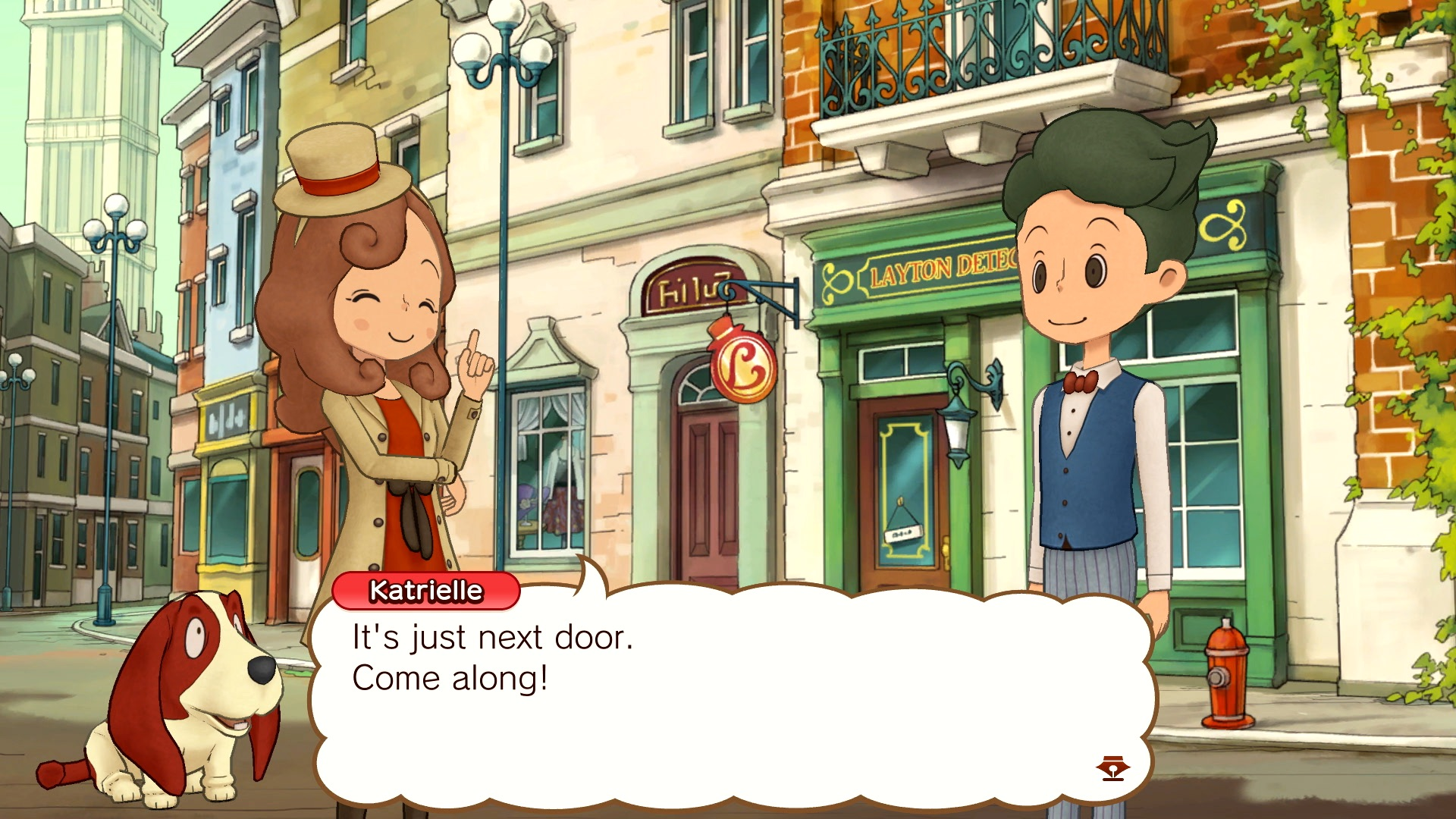 Layton's Mystery Journey: Katrielle and the Millionaires' Conspiracy Deluxe Edition Switch Screenshot 1