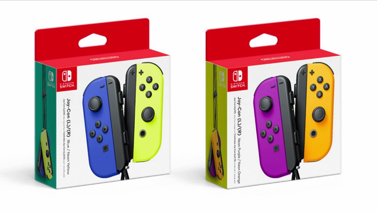 Neon Purple Neon Orange Joy-Con Box Art