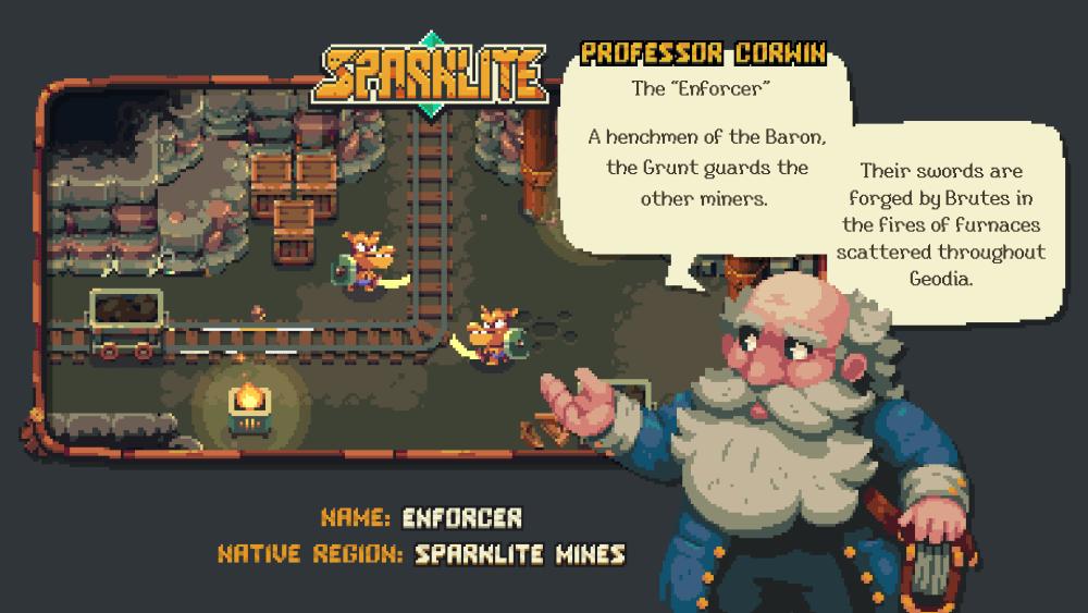 Sparklite Professor Corwin Enforcer Screenshot