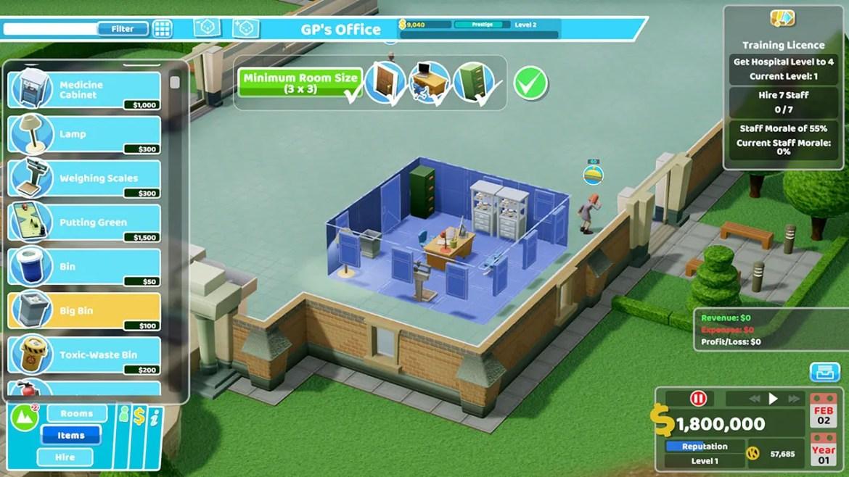 Two Point Hospital Nintendo Switch Screenshot 5