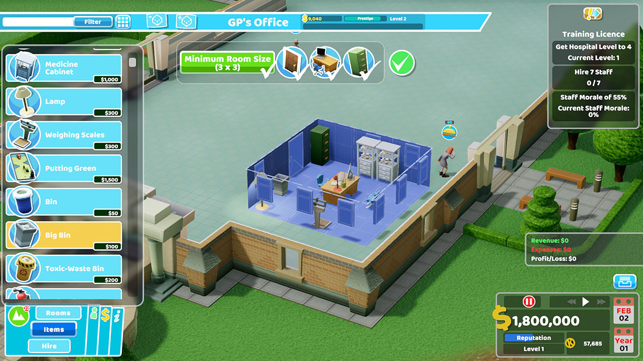 Two Point Hospital Nintendo Switch Screenshot 5