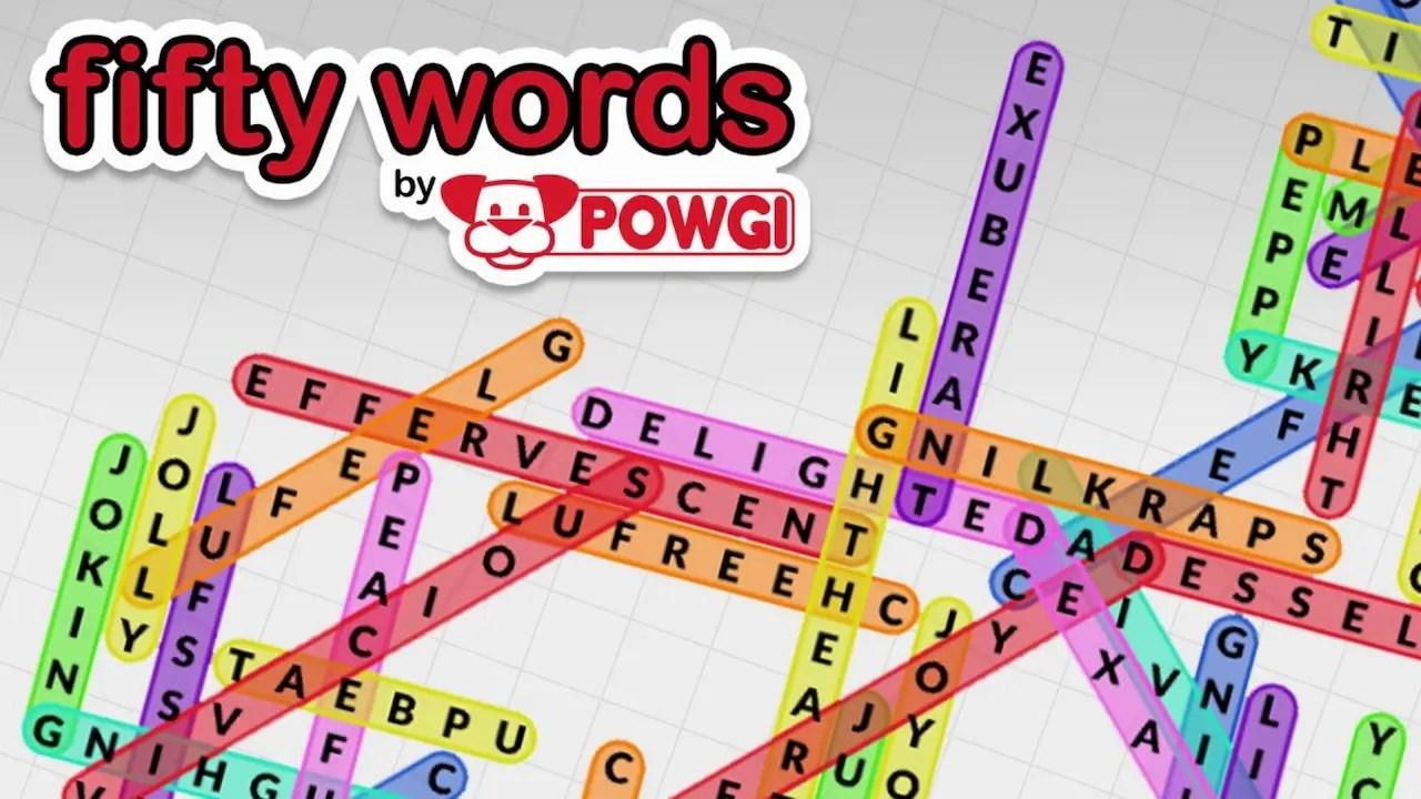 Fifty Words by POWGI Logo
