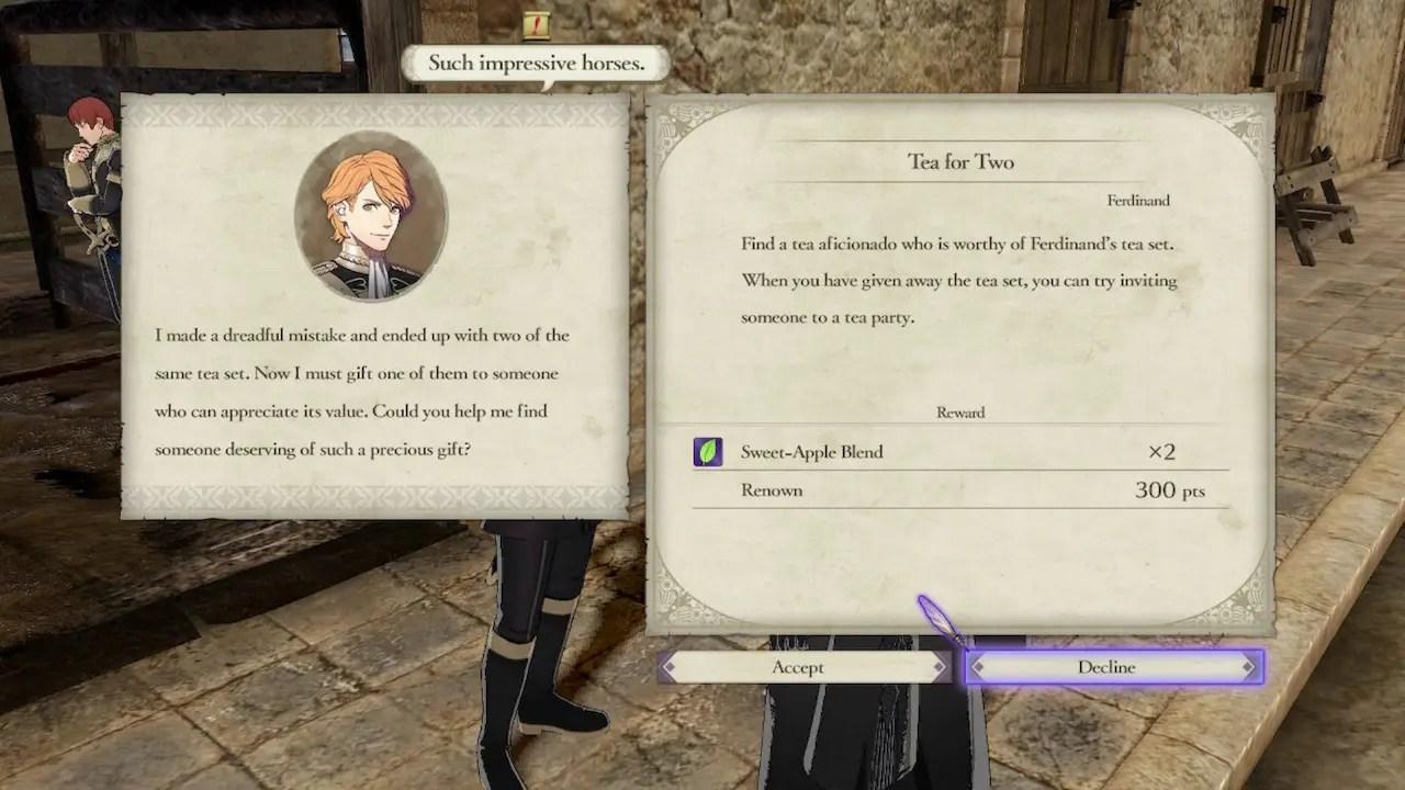 Fire Emblem: Three Houses Tea For Two Screenshot