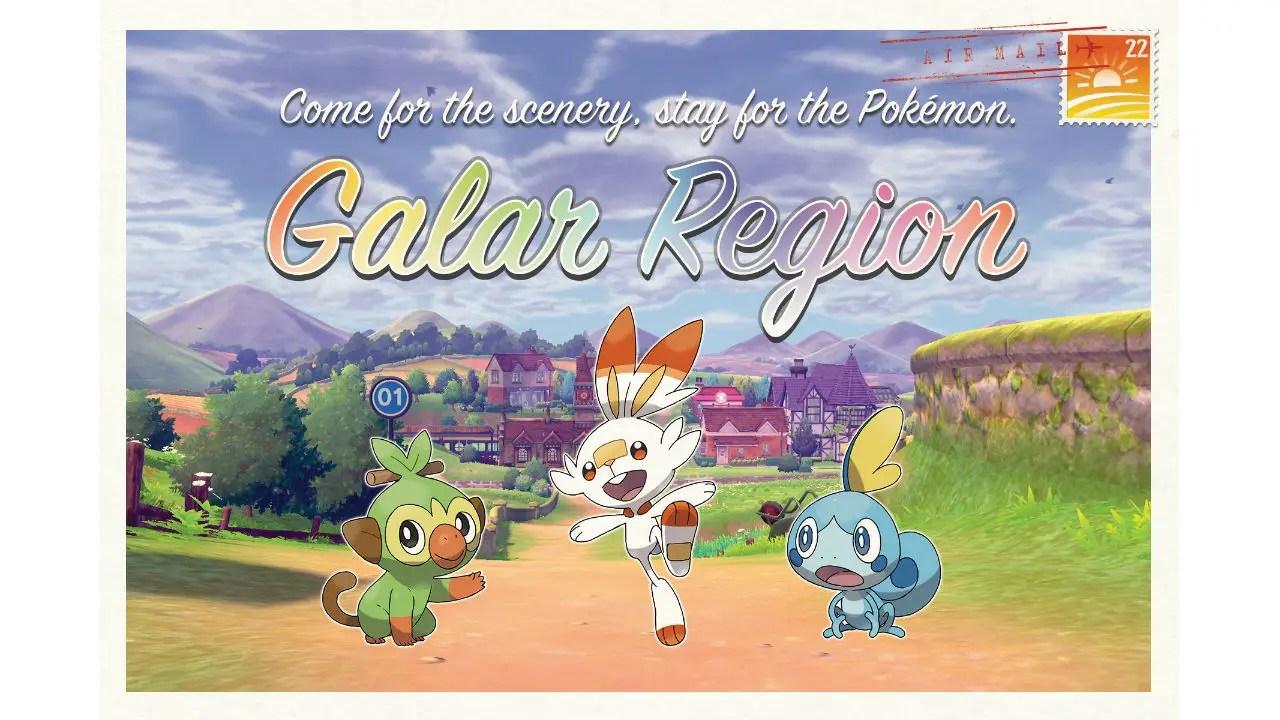 Galar Region Postcard Image