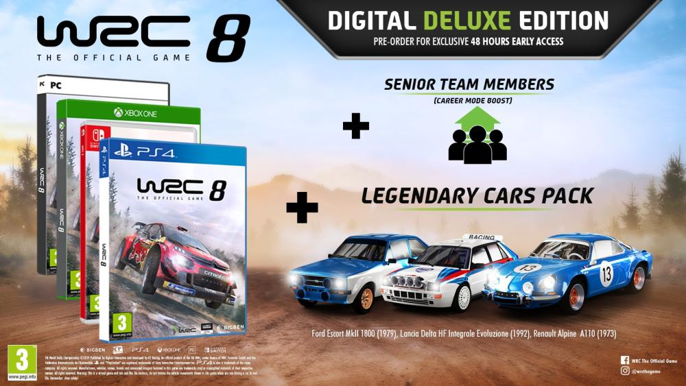 WRC 8 Digital Deluxe Edition Image