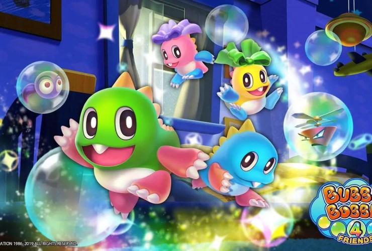 Bubble Bobble 4 Friends Logo