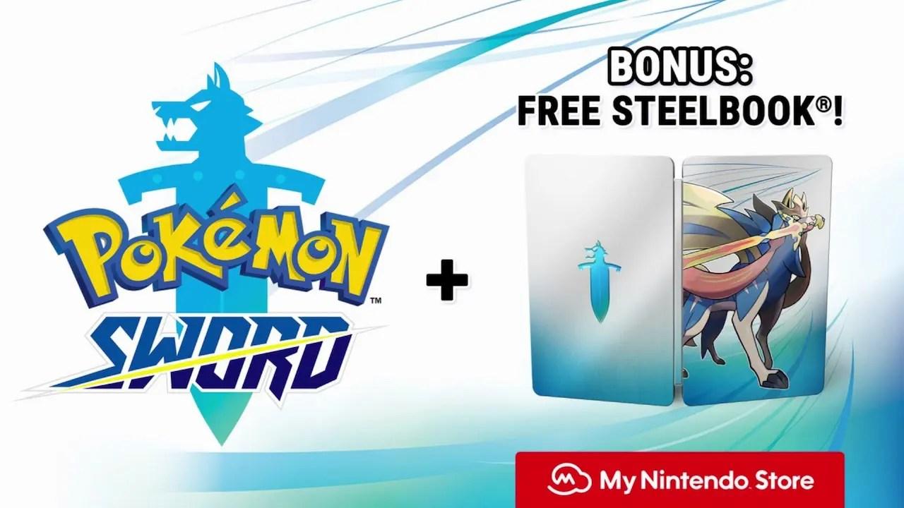 Pokémon Sword Digital Pre-Order Bonus SteelBook Case Screenshot