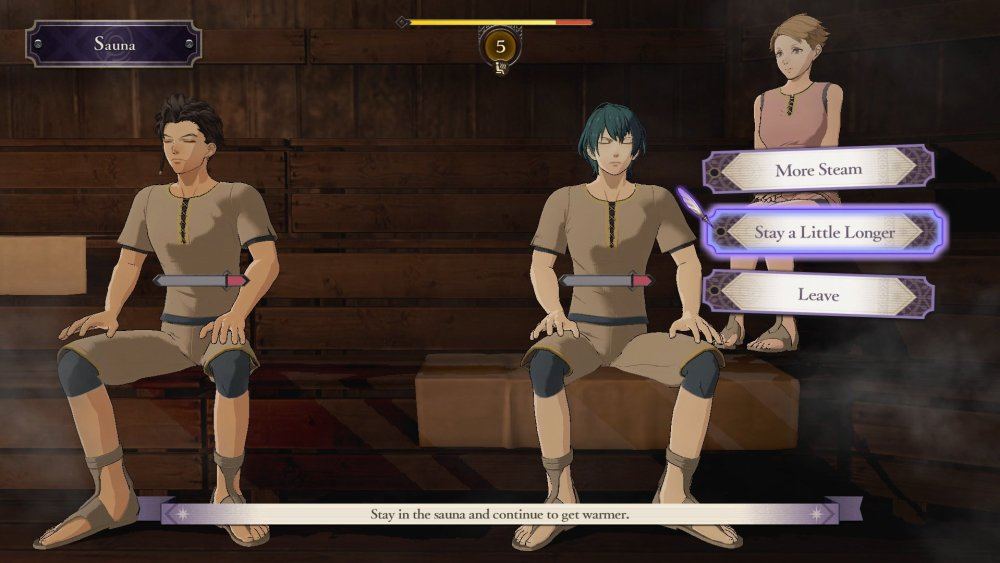 Fire Emblem: Three Houses Sauna Screenshot