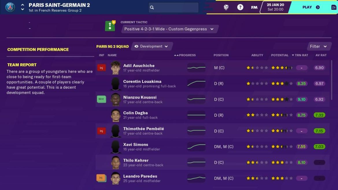 Football Manager 2020 Touch Development Centre Screenshot