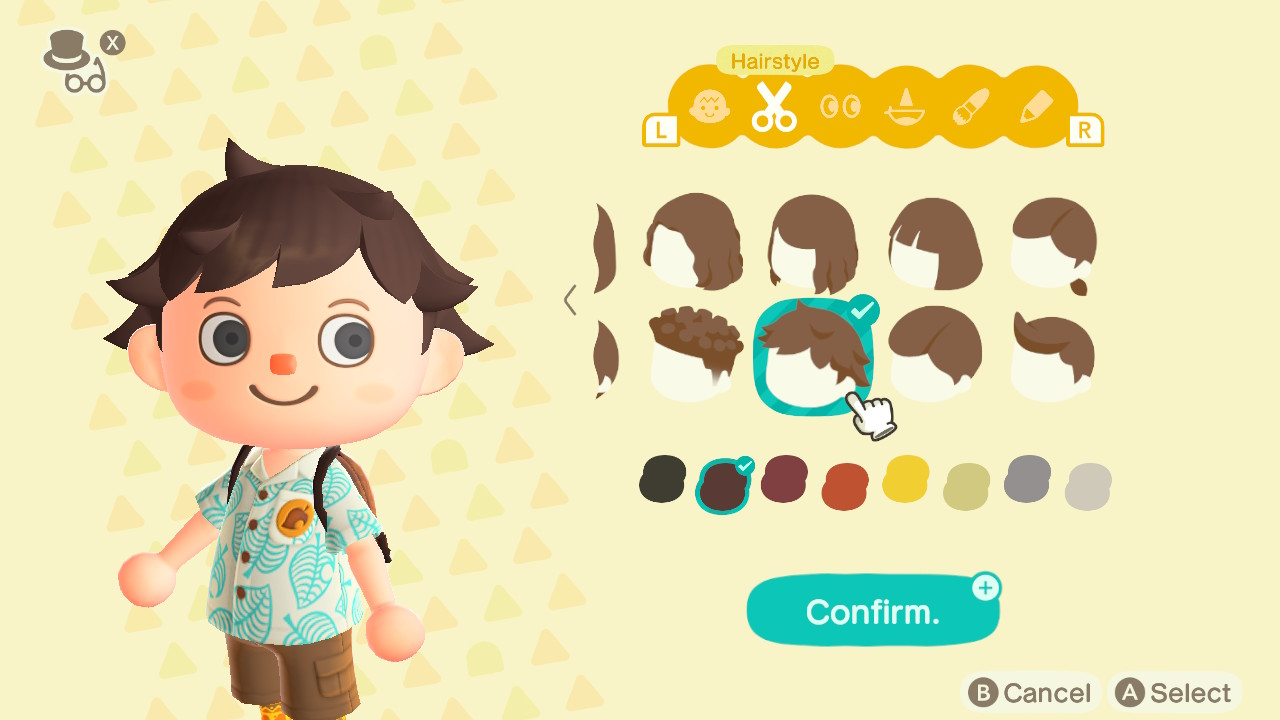 Animal Crossing: New Horizons Hairstyles And Hair Colors