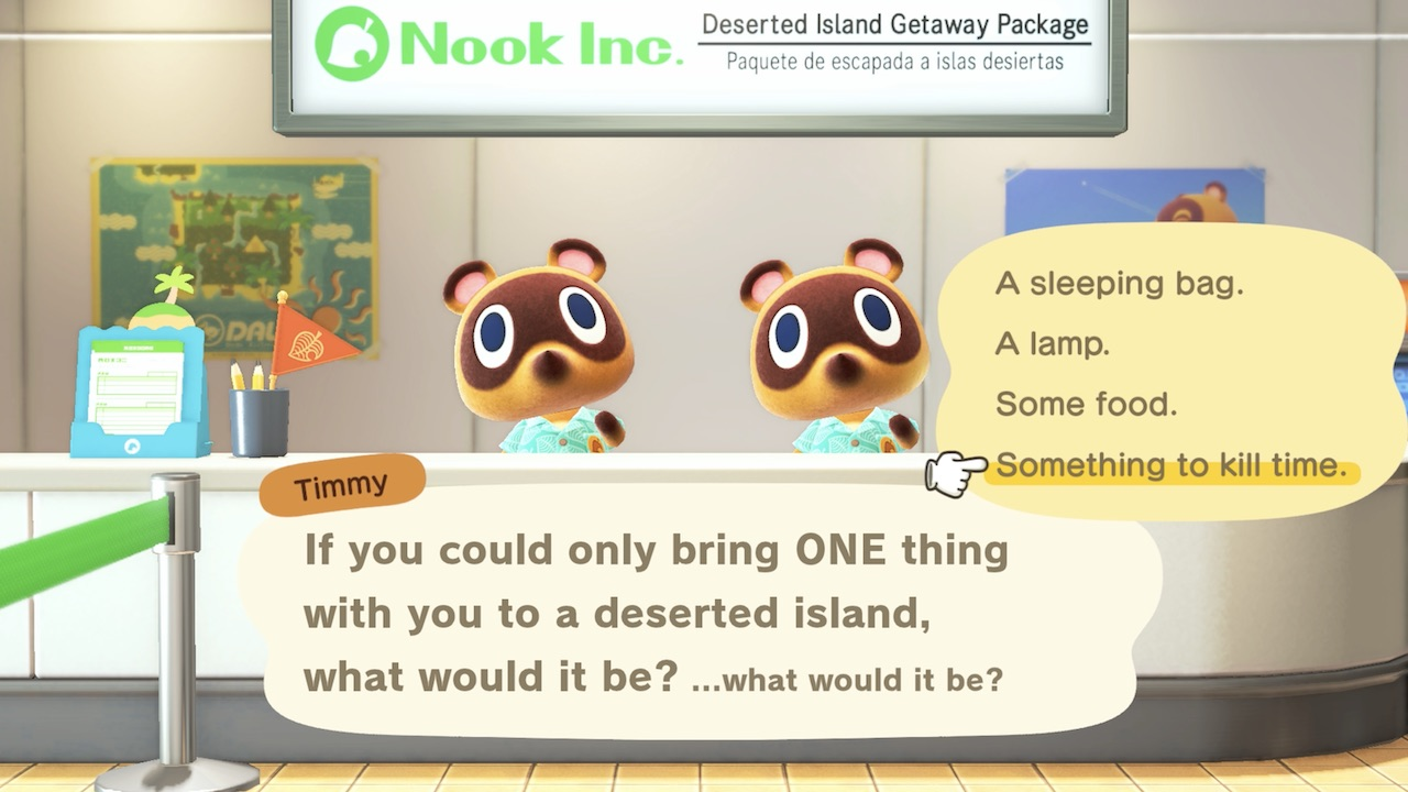 Animal Crossing: New Horizons ONE Thing Screenshot