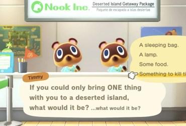 Animal Crossing: New Horizons ONE Thing Screenshot