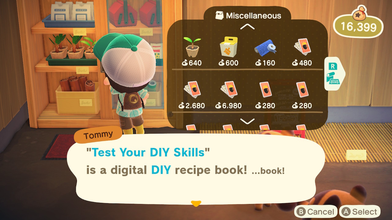 Animal Crossing New Horizons Test Your DIY Skills Screenshot
