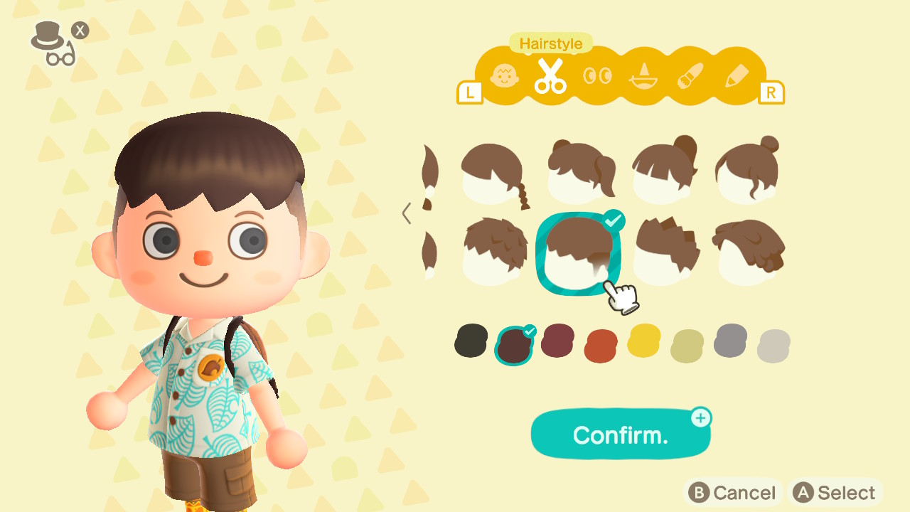 Animal Crossing: New Horizons Top 8 Pop Hairstyles Screenshot