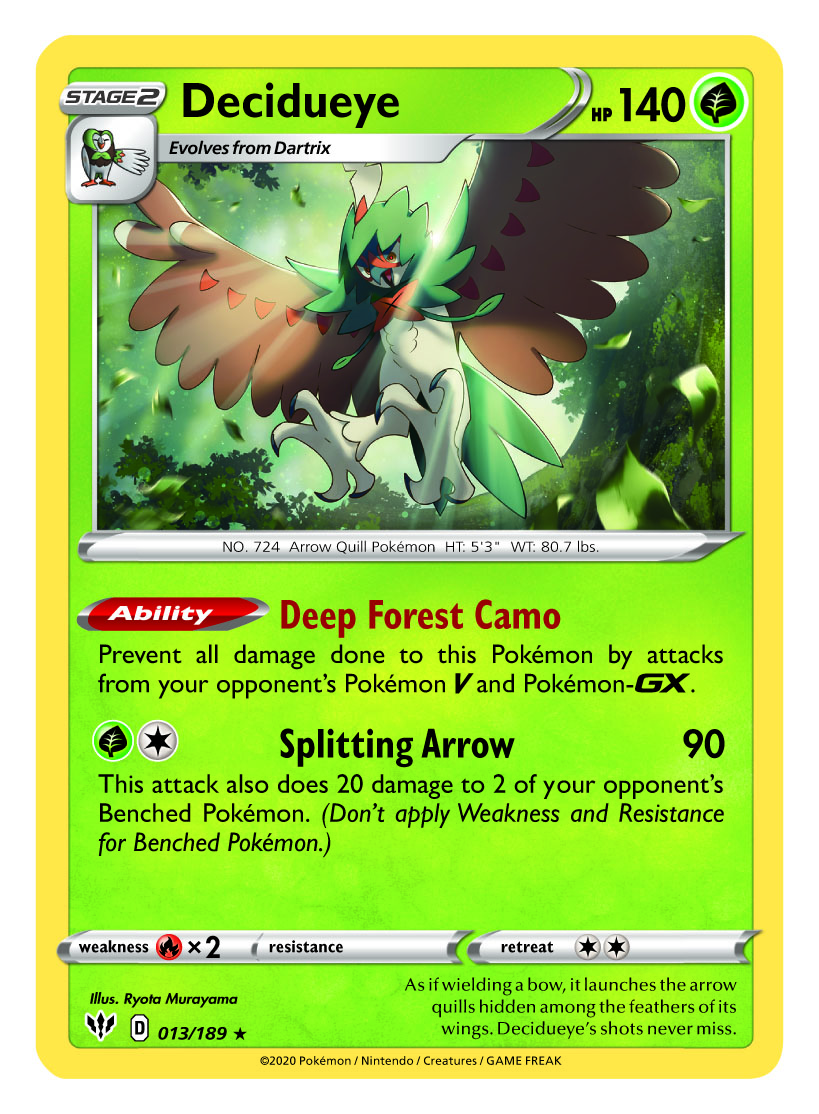 Decidueye Card Pokémon TCG: Sword and Shield – Darkness Ablaze