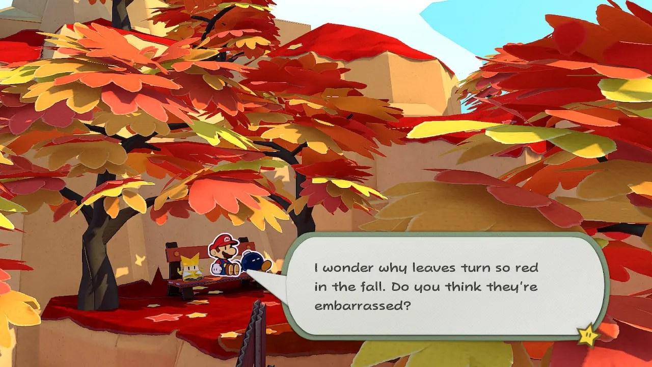 Paper Mario: The Origami King Autumn Mountain Screenshot