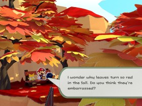 Paper Mario: The Origami King Autumn Mountain Screenshot