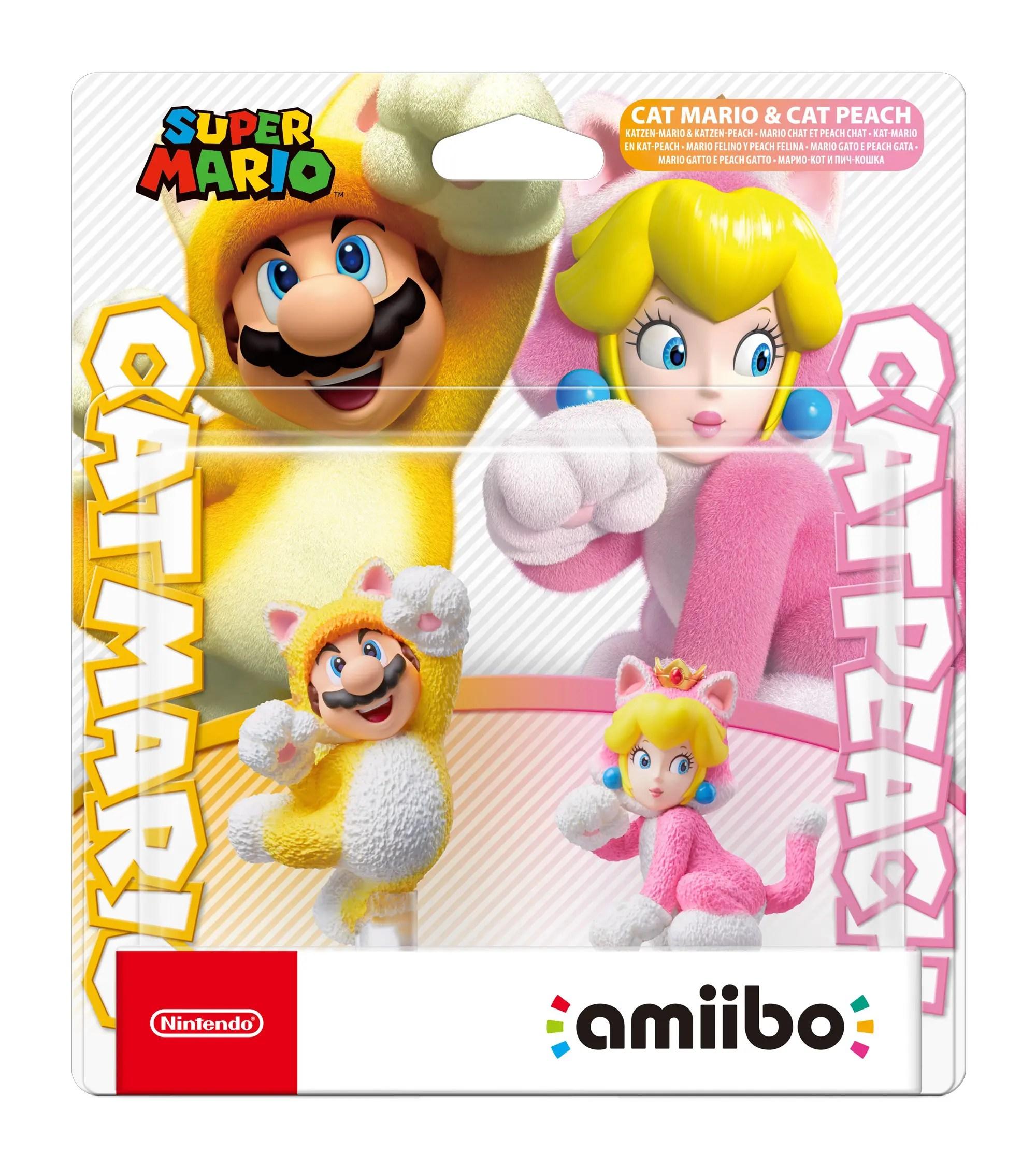 Cat Mario and Cat Peach amiibo Box Art