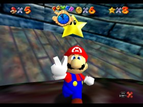 Super Mario 64 Jolly Roger Bay Screenshot