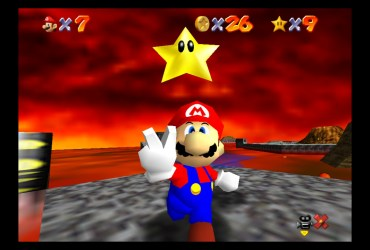 Super Mario 64 Lethal Lava Land Screenshot
