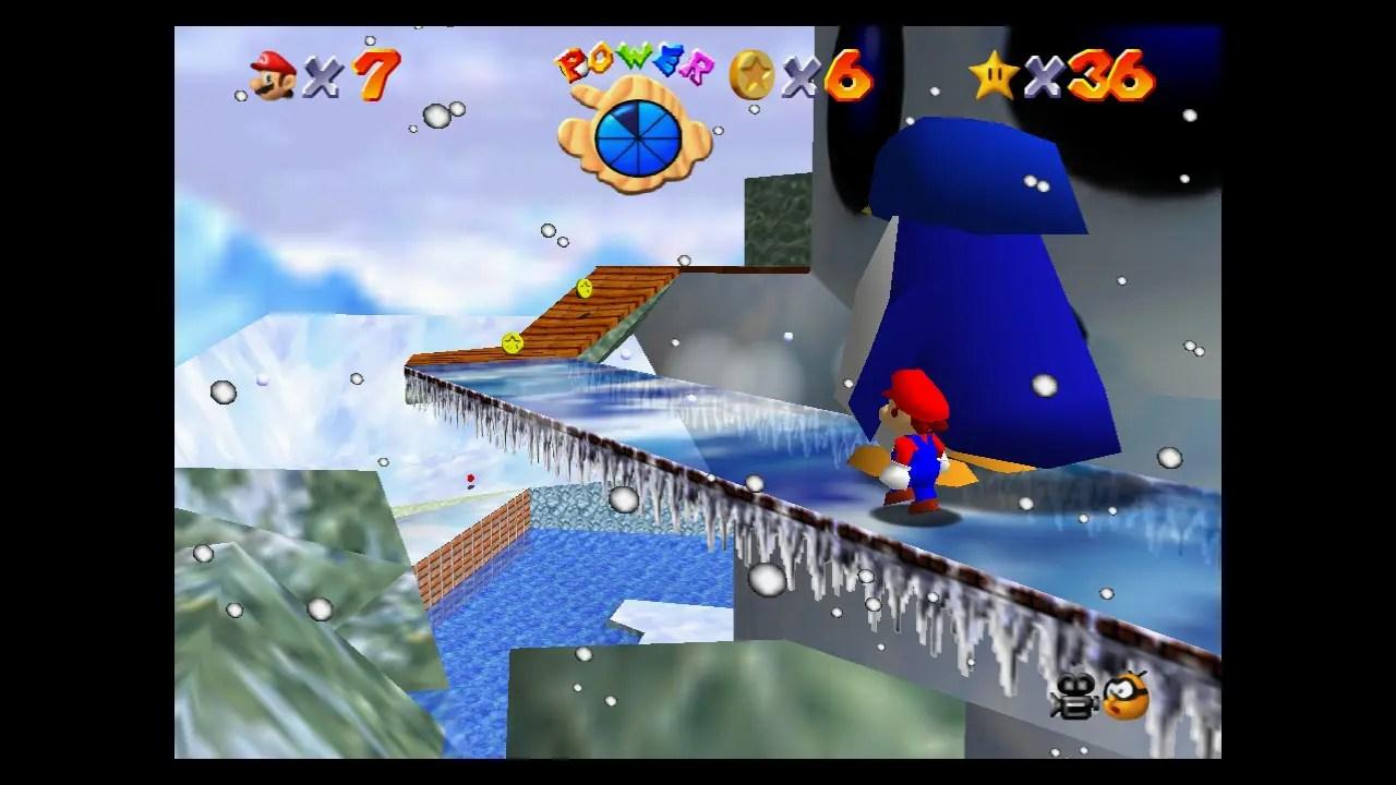 Super Mario 64 Snowman's Land Screenshot 2