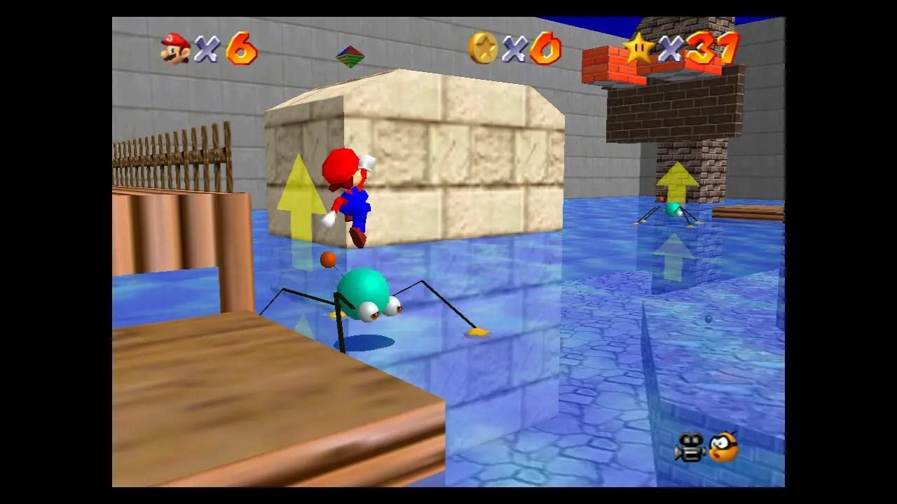 Super Mario 64 Wet-Dry World Screenshot 2