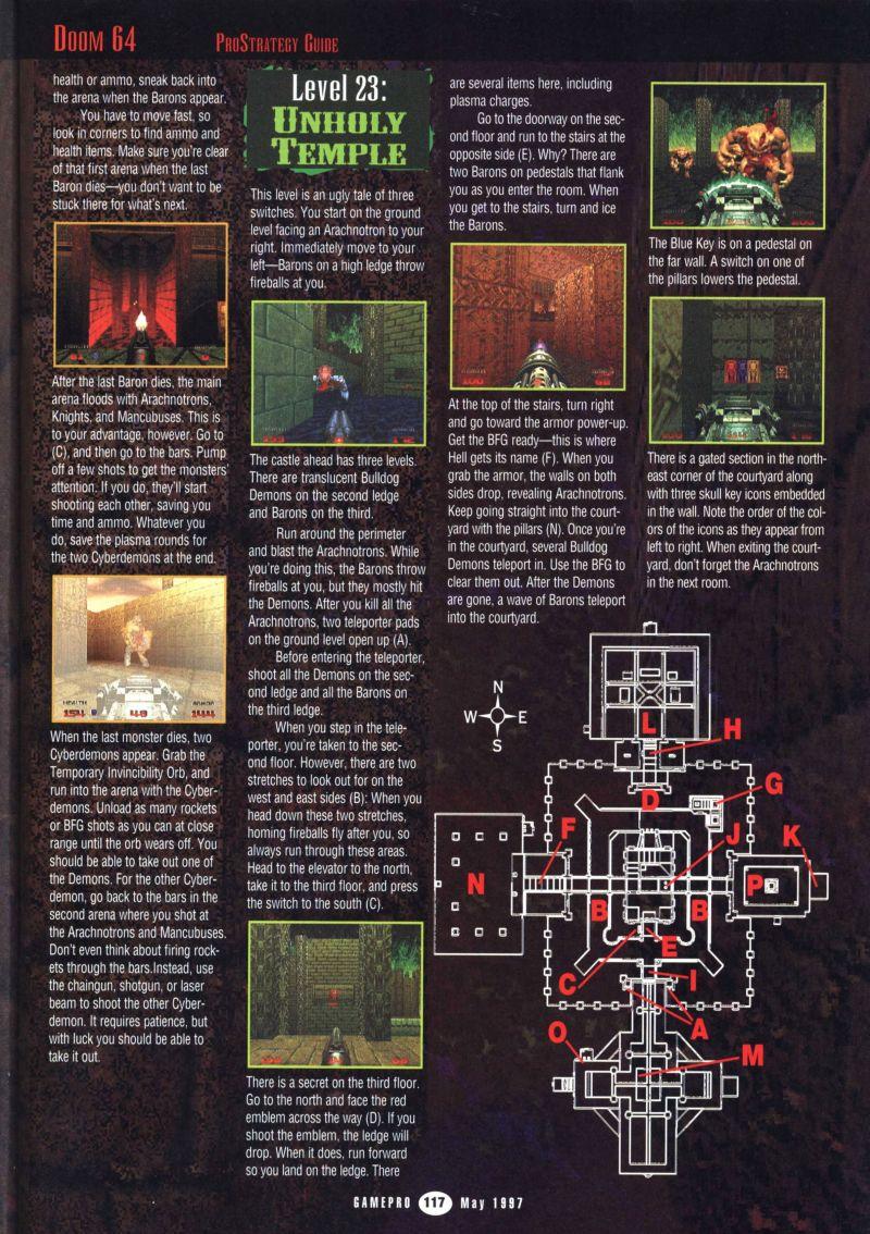 Nintendo64EVER Les Solutions Du Jeu Doom 64 Sur Nintendo 64