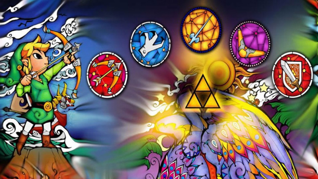 Zelda items mural (Wind Waker)