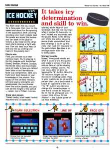 Nintendo Fun Club News | Feb-Mar 1988 Ice Hockey