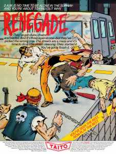 Nintendo Fun Club News | Feb-Mar 1988 Renegade Ad