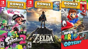 Super Mario Odyssey, Splatoon 2, & Zelda: Breath Of The Wild Starter Packs