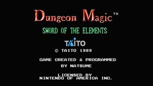Dungeon Magic: Sword Of The Elements (NES) Game Hub